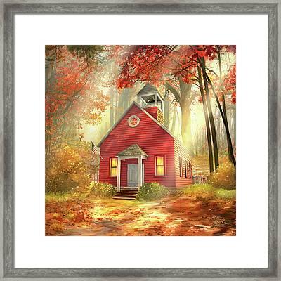 Little Red Schoolhouse Framed Print