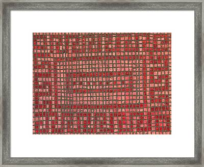 Little Red Tiles Framed Print by Tracy Fetter