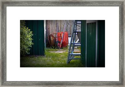 Framed Print featuring the photograph Little Red Wagon by Tim Nichols