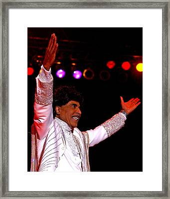 Little Richard Framed Print by Bob Guthridge