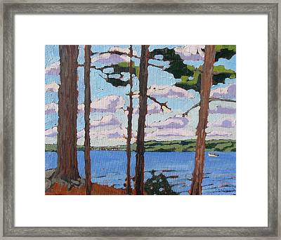 Little Rideau Lake Framed Print by Phil Chadwick