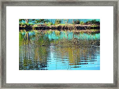 Framed Print featuring the photograph Little Ripples By Kaye Menner by Kaye Menner