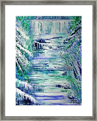 Little River Canyon Ice Storm Framed Print by Anne Hamilton
