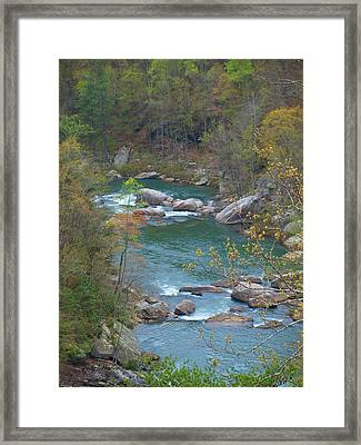 Little River Canyon Framed Print by Judy  Waller