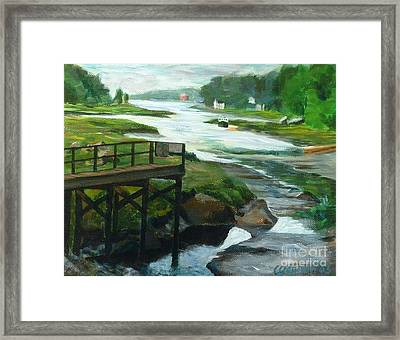 Little River Gloucester Study Framed Print