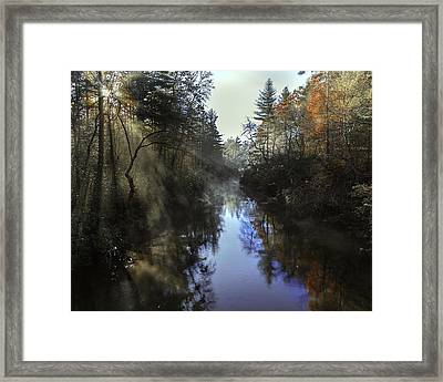 Little River Sunrise Framed Print
