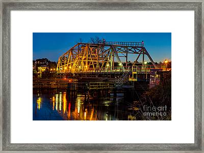 Little River Swing Bridge Framed Print
