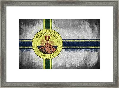 Framed Print featuring the digital art Little Rock City Flag by JC Findley