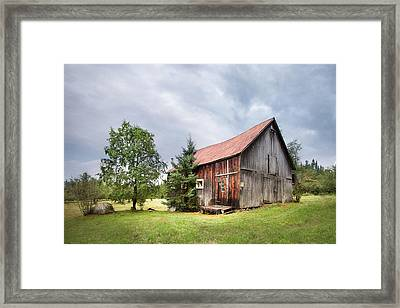 Framed Print featuring the photograph Little Rustic Barn, Adirondacks by Gary Heller