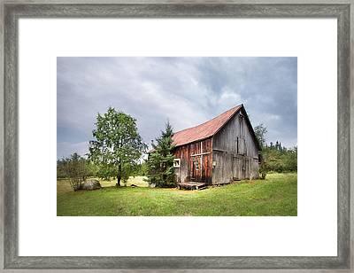 Little Rustic Barn, Adirondacks Framed Print by Gary Heller