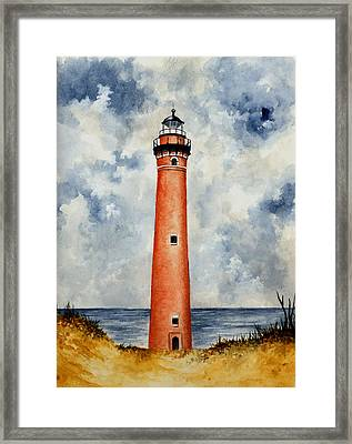 Little Sable Point Lighthouse Framed Print by Michael Vigliotti