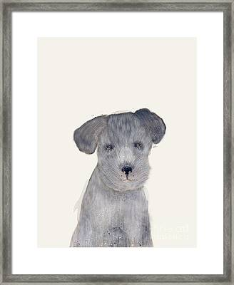Framed Print featuring the painting Little Schnauzer by Bri B