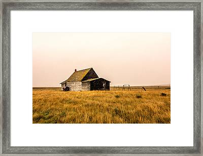 Little Schoolhouse On The Pairie Framed Print by Todd Klassy