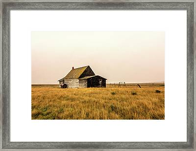 Little Schoolhouse On The Prairie Framed Print by Todd Klassy