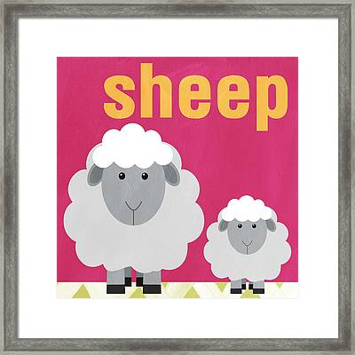Little Sheep Framed Print by Linda Woods