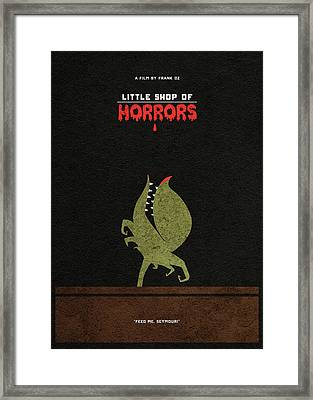 Little Shop Of Horror Minimalist Alternative Poster Framed Print