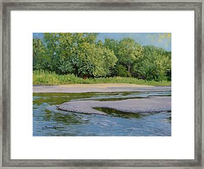 Little Sioux Sandbar Framed Print by Bruce Morrison