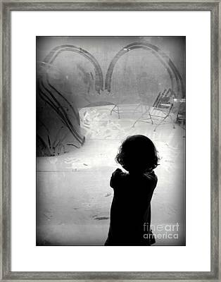 Little Sissy Deep In Thought Framed Print by Diane M Dittus