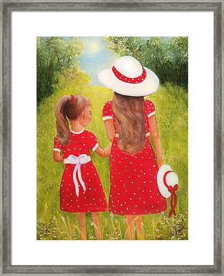 Little Sisters Framed Print by Joni McPherson
