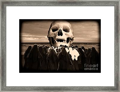 Little Sisters Of The Divine Skull Framed Print by Wayne Higgs