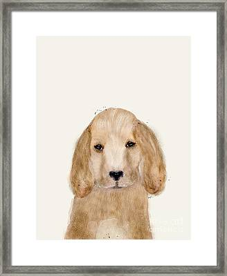 Framed Print featuring the painting Little Spaniel by Bri B