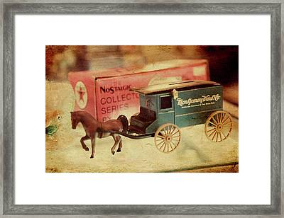 Little Stagecoach Framed Print by Toni Hopper