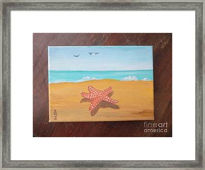 Little Star Fish Framed Print by Stella Sherman