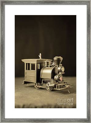 Framed Print featuring the photograph Little Steam Locomotive by Edward Fielding