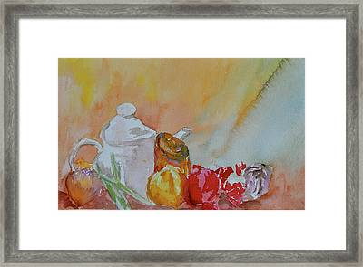 Framed Print featuring the painting Little Still Life by Beverley Harper Tinsley