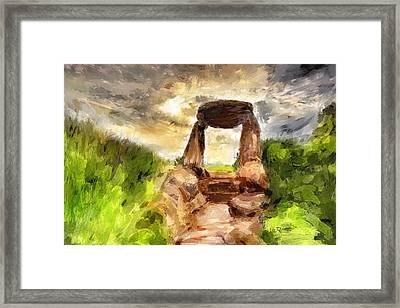 Little Stonehenge Framed Print