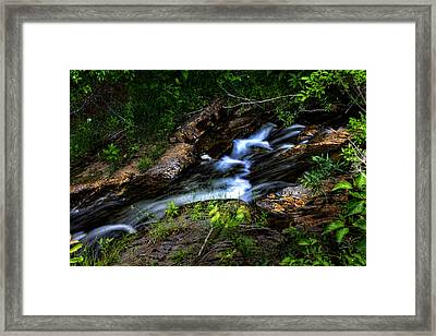 Framed Print featuring the photograph Little Stream by Gary Smith