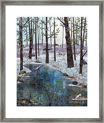 Little Stream Framed Print by Janyce Boynton