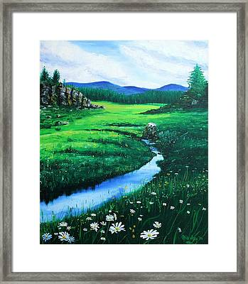 Framed Print featuring the painting Little Stream by Mike Ivey