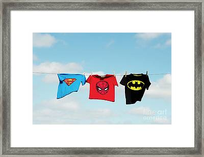 Little Superheroes Framed Print by Tim Gainey