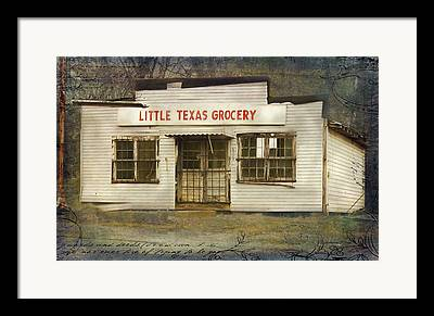 Historic Country Store Mixed Media Framed Prints
