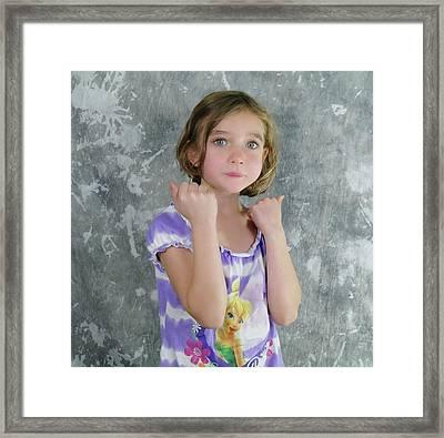 Little Tomboy  Framed Print