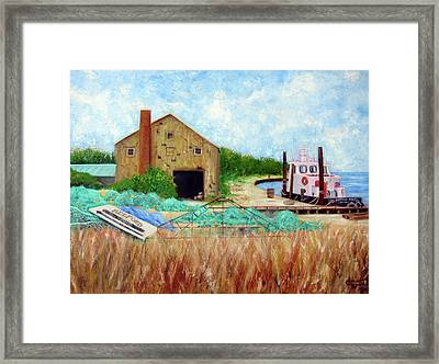 Little Toot Tug Boat Framed Print by Leonardo Ruggieri