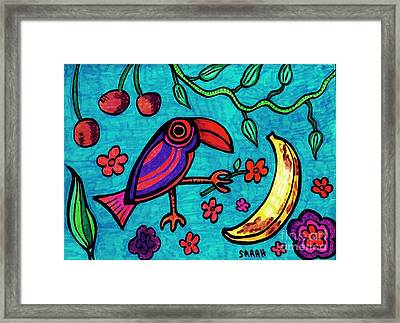 Little Toucan Framed Print by Sarah Loft