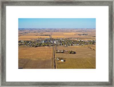 Little Town On The Prairie Framed Print