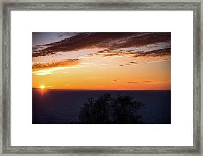 Little Traverse Bay Sunset Framed Print by Onyonet  Photo Studios