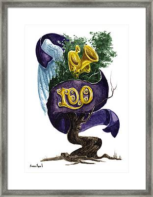 Little Tree 100 Framed Print by Sean Seal
