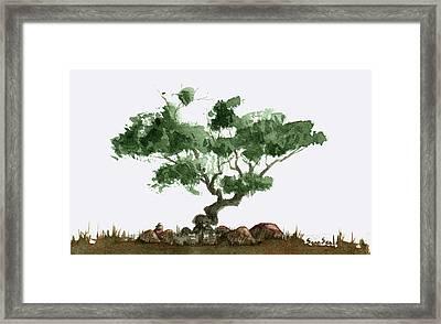 Little Tree 2 Framed Print by Sean Seal