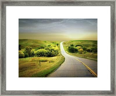 Little Valley Framed Print