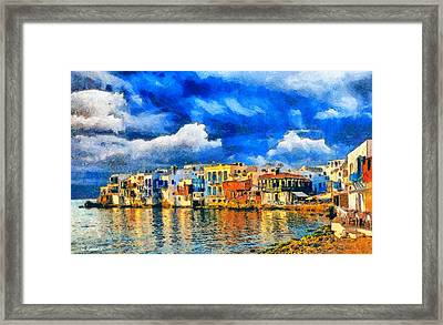 Little Venice Framed Print by George Rossidis
