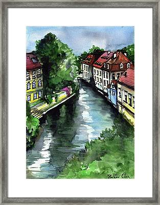 Little Venice In Prague Certovka Canal Framed Print