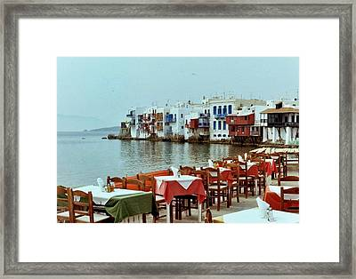 Little Venice On Mykonos Framed Print