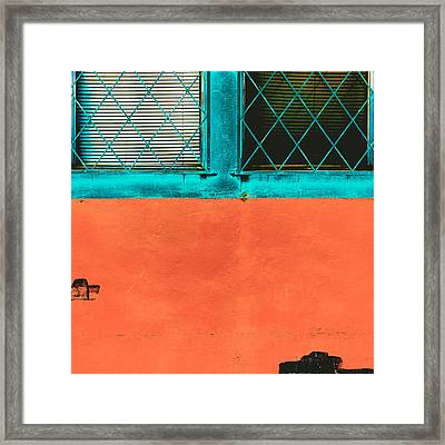 Little Vibrant Boxes Framed Print by Lee Harland