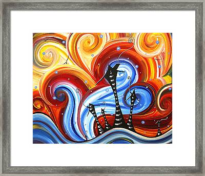Little Village By Madart Framed Print by Megan Duncanson