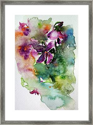 Framed Print featuring the painting Little Violet by Kovacs Anna Brigitta