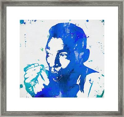 Little Walter Paint Splatter Framed Print